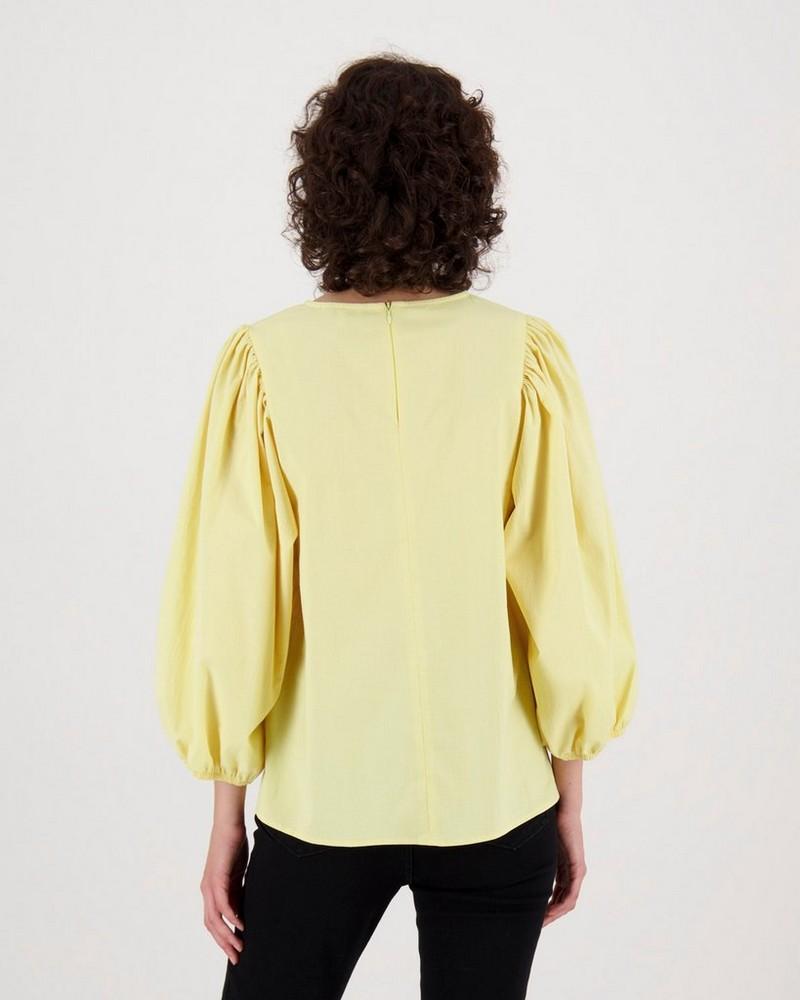 Vix Popover Shirt -  yellow