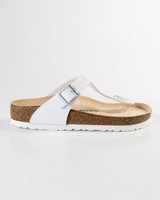Birkenstock Gizeh Birko-Flor Sandal  -  white