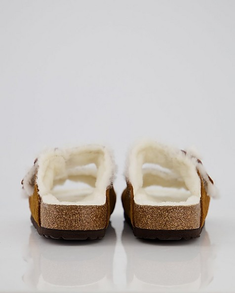 Birkenstock Arizona Fur Sandal -  tan