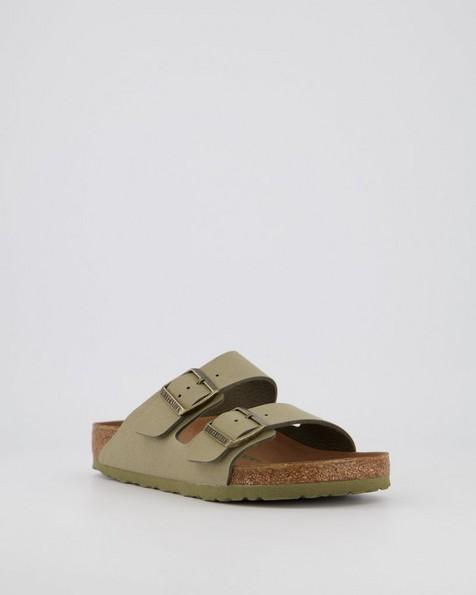 Birkenstock Arizona Vegan Birkibuck #1020502 R Sandal (Ladies) -  khaki
