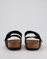 Birkenstock Arizona Vegan Birkibuck #1019115 R Sandal (Ladies) -  black