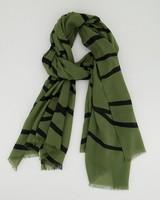 Ivette Line Detail Scarf -  darkgreen