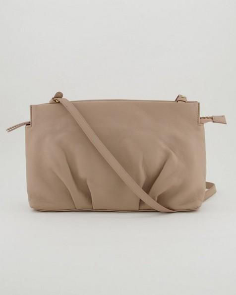 Cydney Pleated Crossbody Bag -  stone