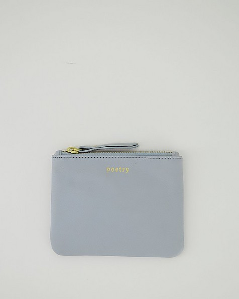 Moira Leather Pouch -  midblue