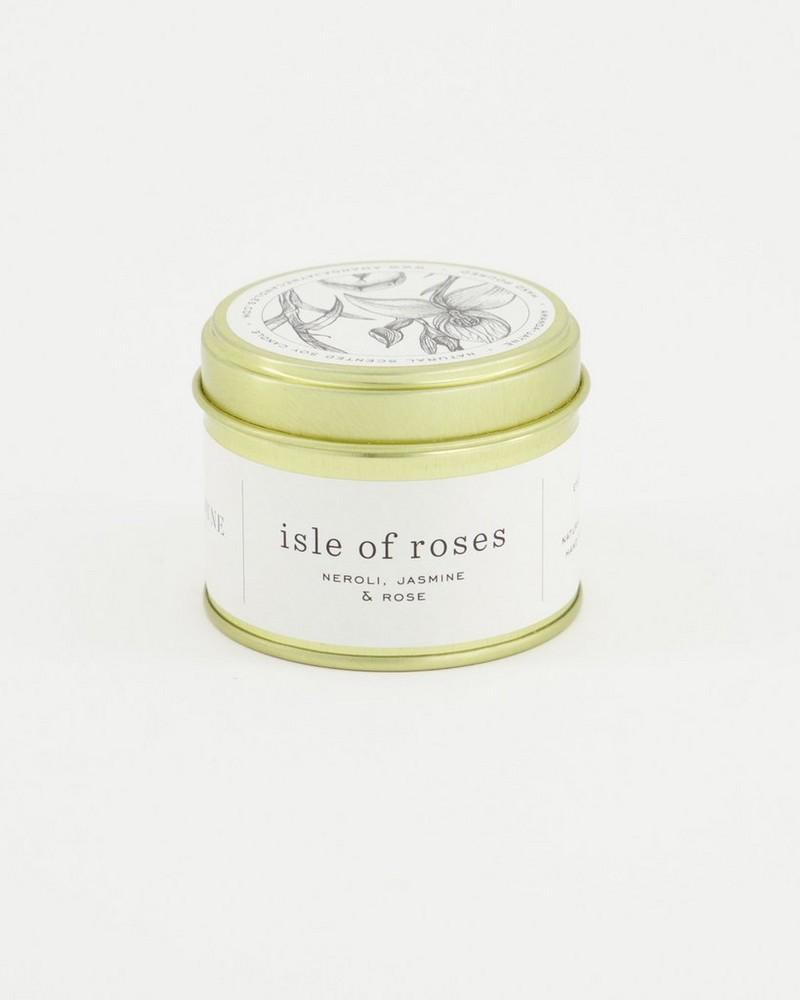 Amanda Jayne Isle of Roses in Gold Tin -  white