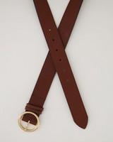 Danica Plain Leather Belt -  tan