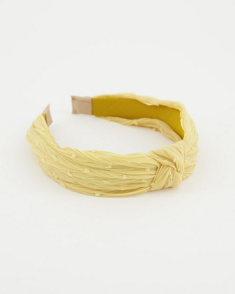 Mikka Dotted Aliceband -  yellow