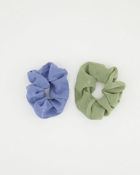 2-Pack Zanele Textured Scrunchie Set -  midblue