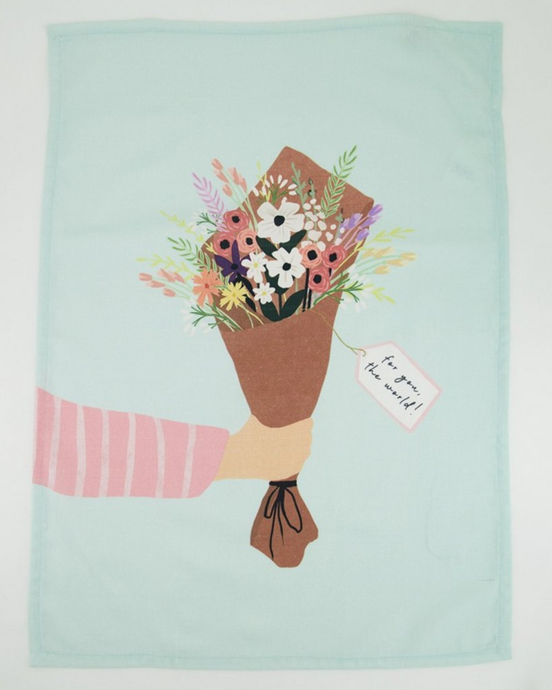 For You The World Tea Towel -  assorted