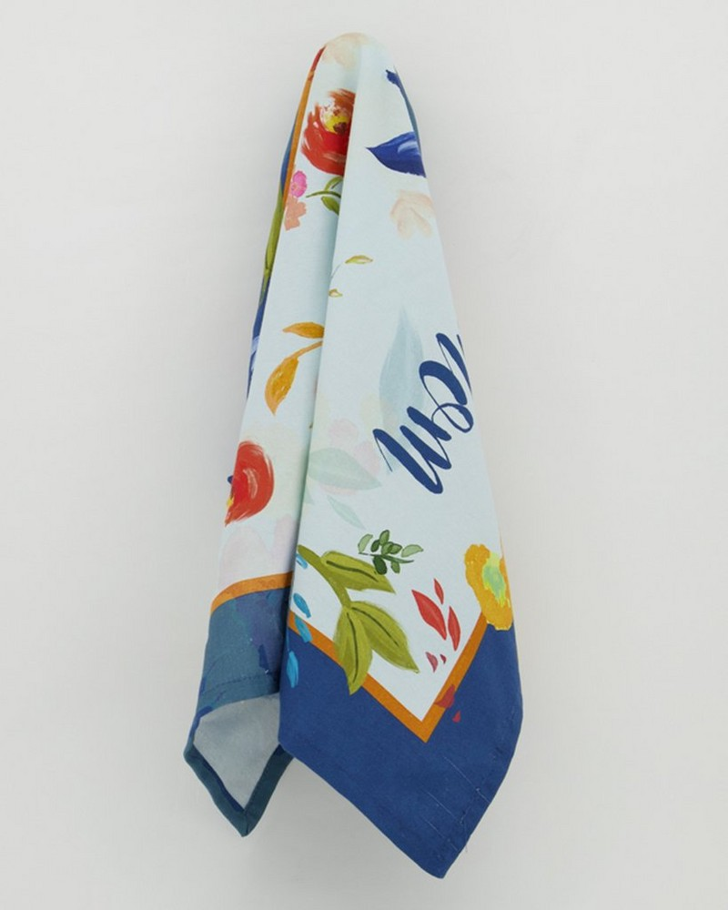 Mom Floral Tea Towel  -  assorted