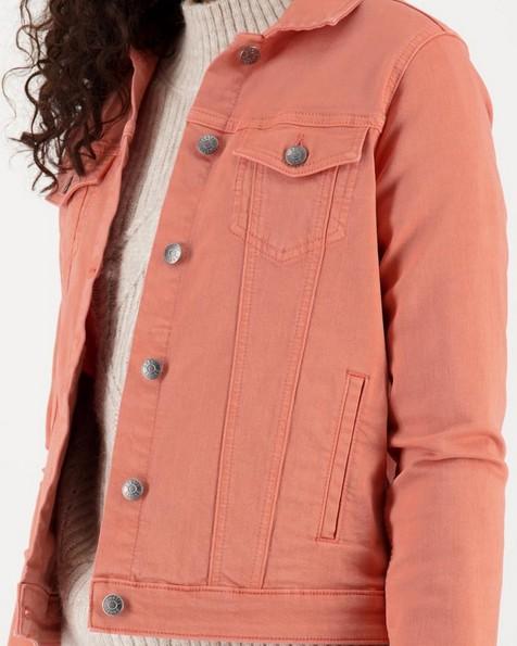Shazzy Denim Jacket -  peach