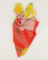 Odette Pleated Floral Scarf -  pink