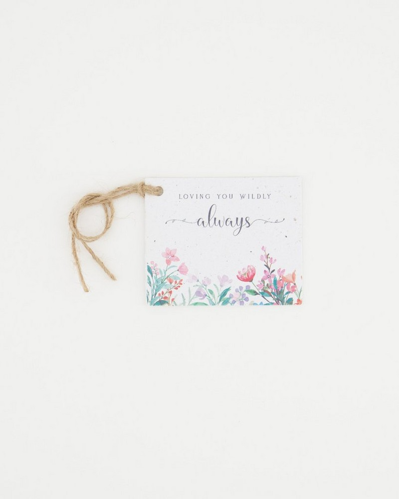 Growing Paper Loving You Wildly Tag -  assorted