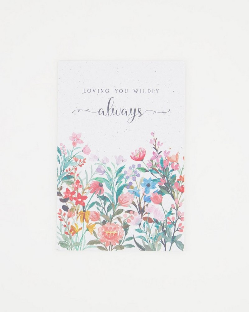 Growing Paper Loving You Wildly Card -  assorted