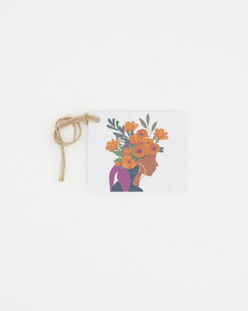 Growing Paper Empowered Tag -  assorted