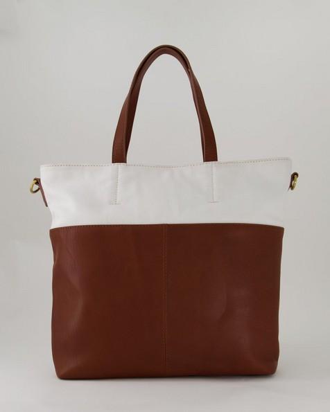 Blakely Colourblock Tote Bag  -  tan
