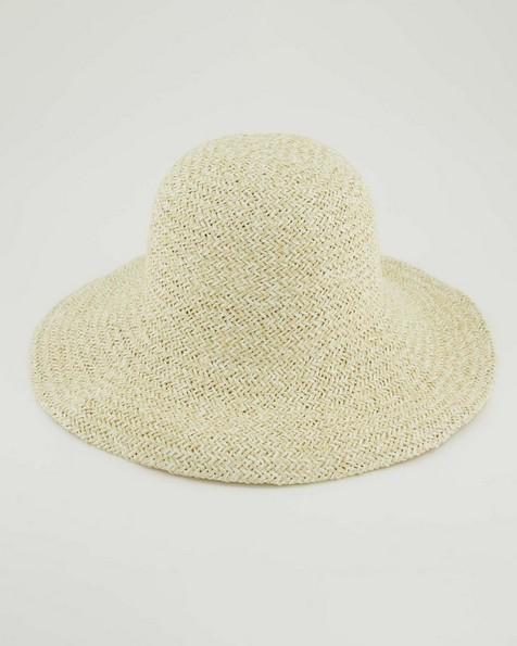 Ali Straw Bucket Hat -  milk