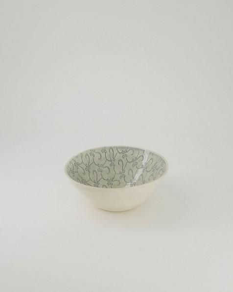 Wonki Ware Patterned Soup Bowl -  grey