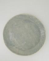 Wonki Ware Patterned Cake Plate -  grey