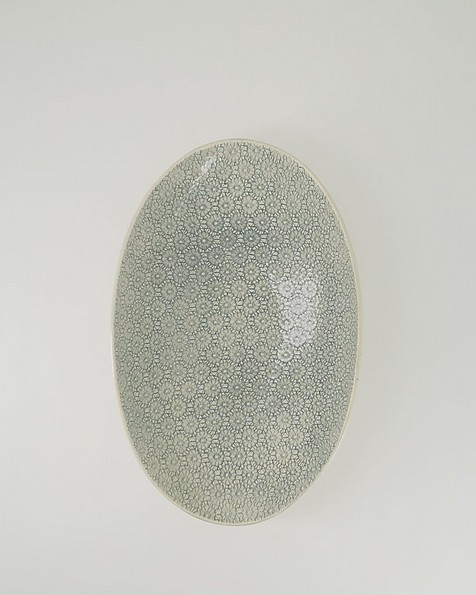 Wonki Ware Large Etosha Patterned Bowl -  teal
