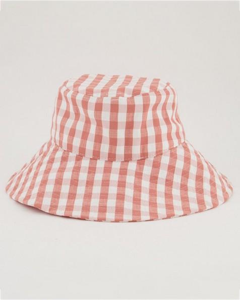 Maya Fabric Bucket Hat -  coral