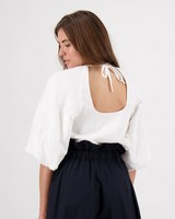 Cleo Interest Blouse -  white