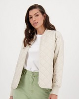Opal Quilted Jacket -  stone