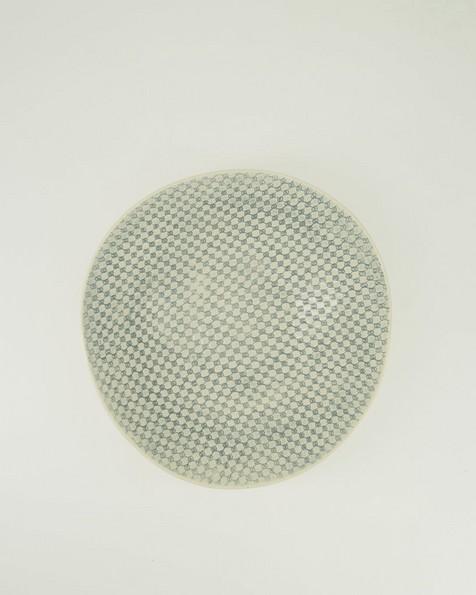Wonki Ware Patterned Bowl  -  grey