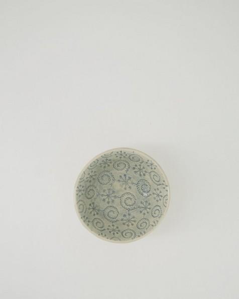 Wonki Patterned Ramekin  -  grey