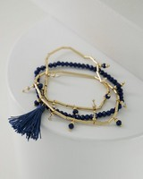 3-Pack Stretch Bracelet Set -  gold