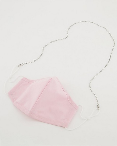 Paperclip Mask Chain  -  silver
