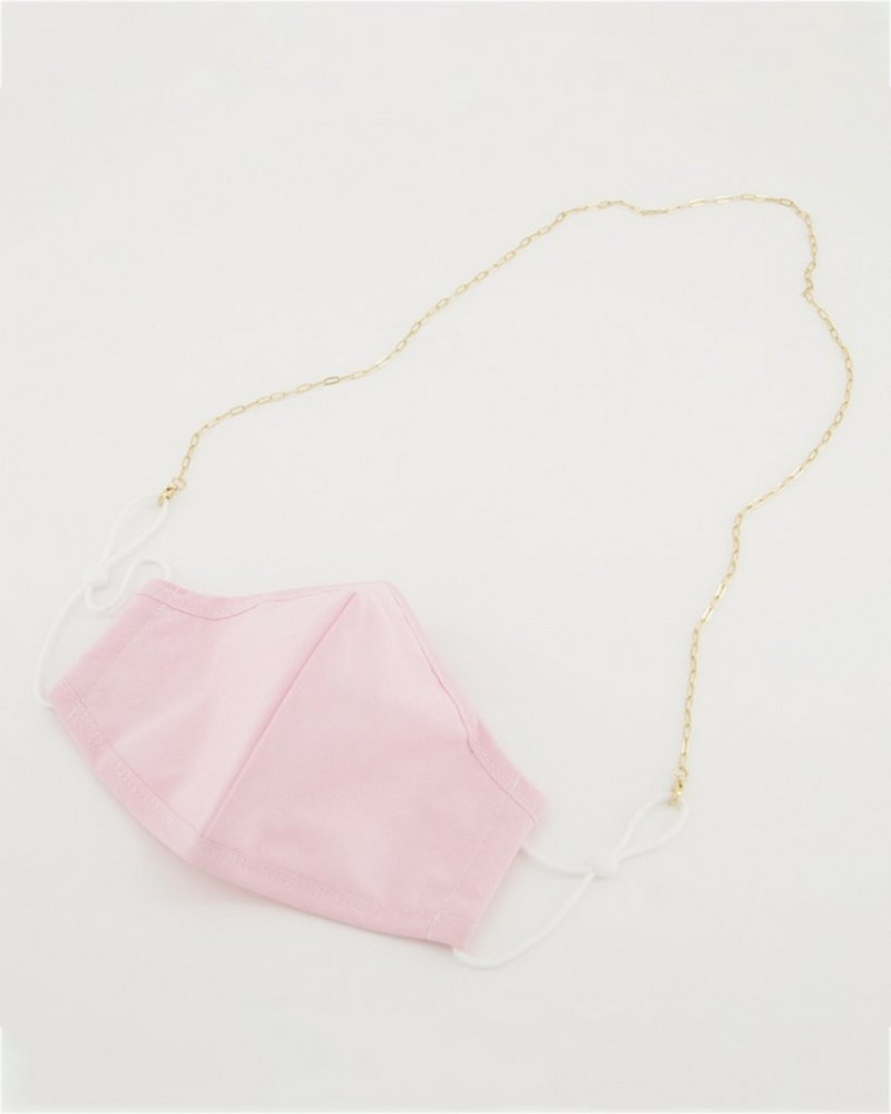 Paperclip Mask Chain  -  gold