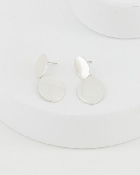 Organic Drop Earrings -  silver
