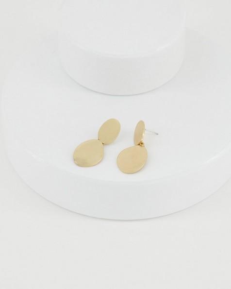 Organic Drop Earrings -  gold