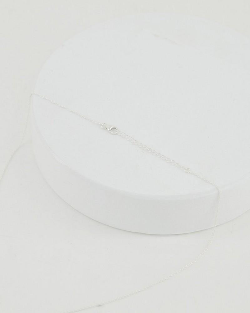 Moonstone & Silver Necklace -  milk