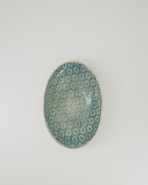 Wonki Ware Medium Etosha Patterned Bowl -  teal