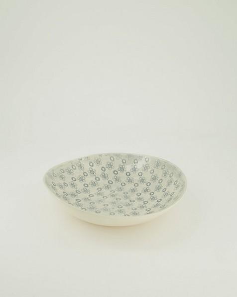Wonki Ware Patterned Dish -  grey