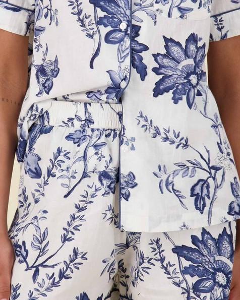 Cora Delft PJ Set -  blue