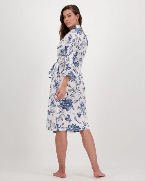 Cora Delft Gown -  blue