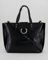Claire Knot Detail Shopper Bag -  black