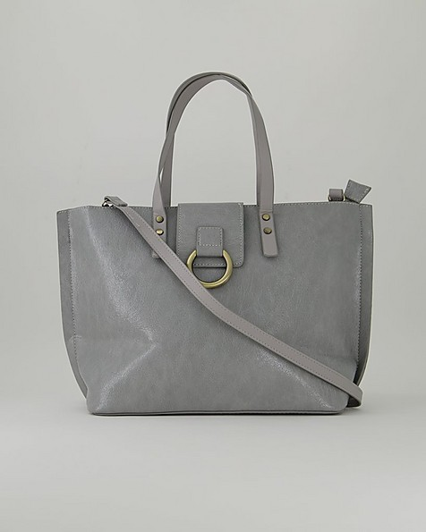 Claire Knot Detail Shopper Bag -  grey