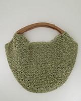Helena Straw Hobo Bag -  green