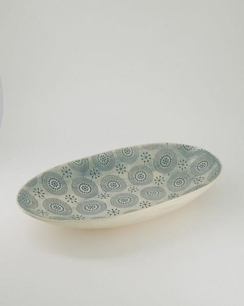 Wonki Ware Patterned Bowl -  teal