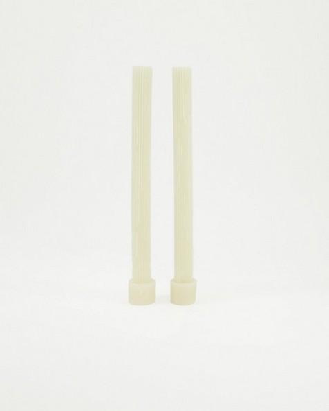 Vintage Gear Candle Gift Set of 2 -  bone