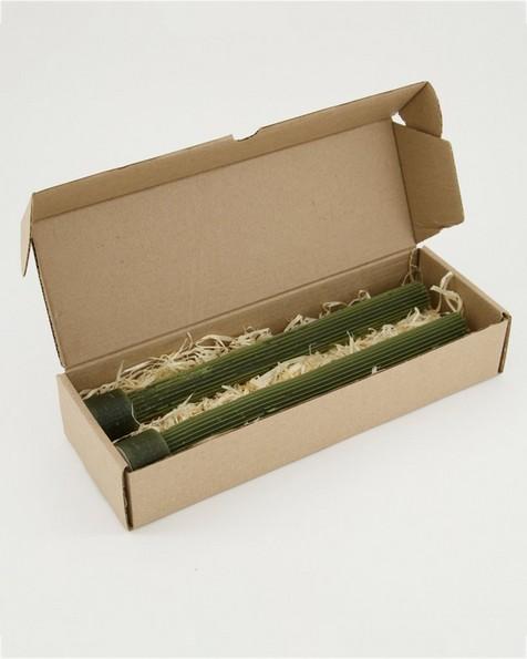Vintage Gear Candle Gift Set of 2 -  darkolive