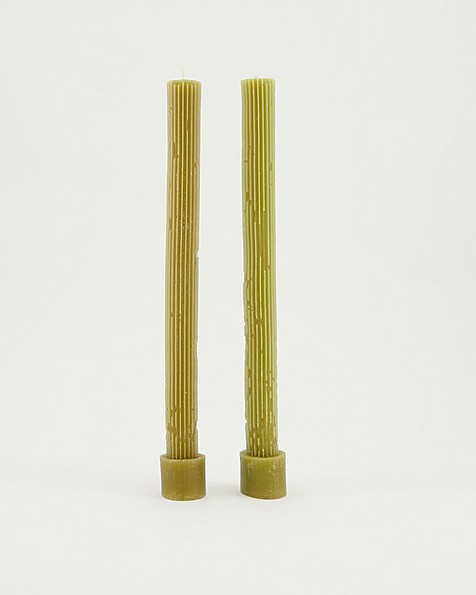 Vintage Gear Candle Gift Set of 2 -  mustard
