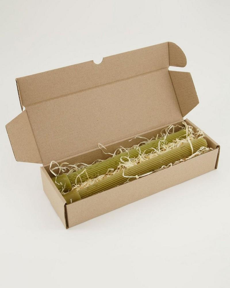 2-Pack Vintage Gear Candle Gift Set  -  mustard