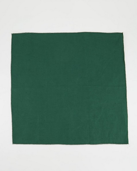 Set of Four Poetry Home Linen Napkins -  green