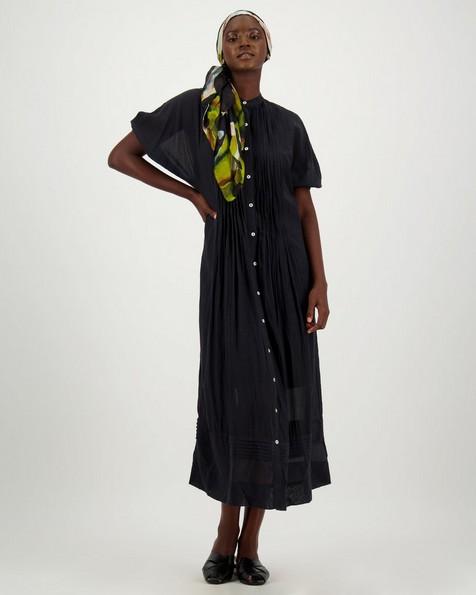 Madina Pintuck Dress -  black