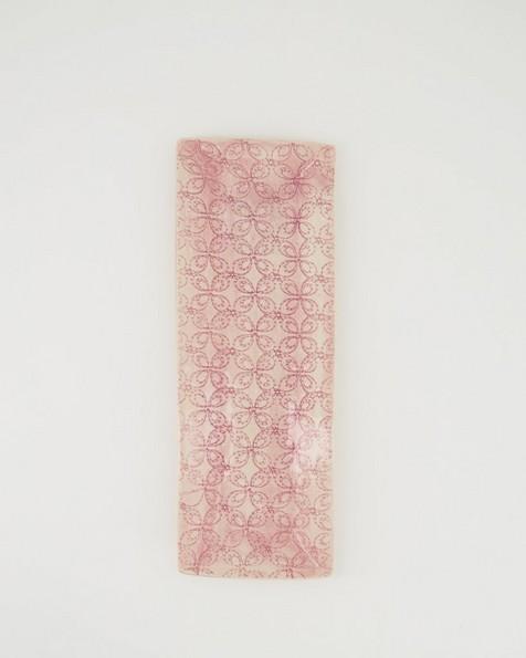 Wonki Ware Skinny Patterned Utensil Dish -  pink
